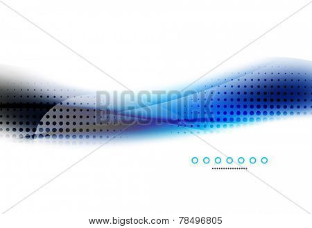 Abstract background, blue wave business template, web design