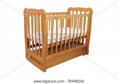 baby cot isolated under the white background