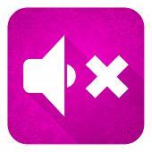 image of christmas song  - speaker volume violet flat icon - JPG