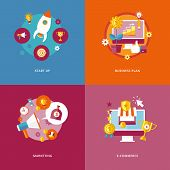 pic of marketing plan  - Set of flat design concept icons for business and marketing - JPG