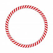 stock photo of candy cane border  - Round frame made of candy canes - JPG