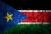 picture of sudan  - Grungy Flag of South Sudan on vintage Paper - JPG