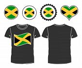 picture of jamaican flag  - Jamaican T - JPG