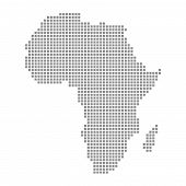 image of north sudan  - Black Pixel map showing outline of Africa - JPG