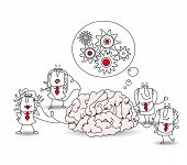 image of metaphor  - The business team and the brain - JPG