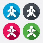 image of baby diapers  - Baby infant sign icon - JPG