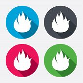 image of fire  - Fire flame sign icon - JPG