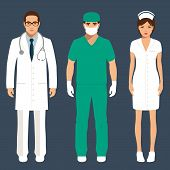 picture of medical staff  - doctor and nurse personnel - JPG