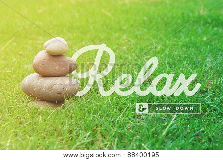 Relax Motivational Quote Concept Background