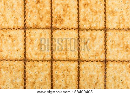 Background Several Rows Of Sweet Biscuit