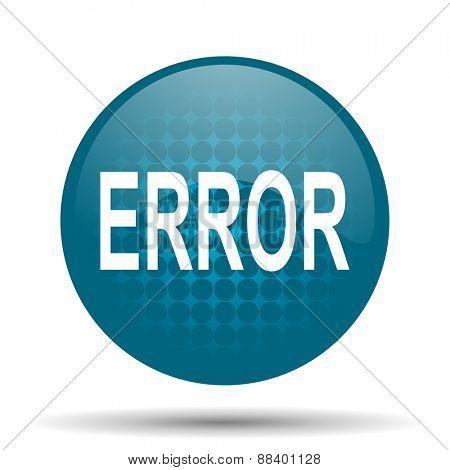 error blue glossy web icon