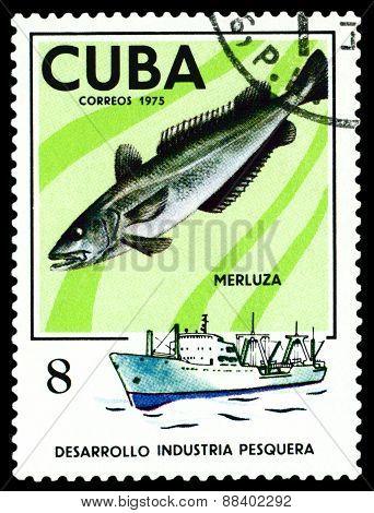 Vintage  Postage Stamp. Hake.