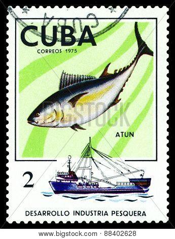 Vintage  Postage Stamp. Tuna.