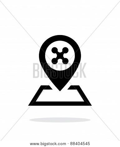 Landing place for drone simple icon on white background.