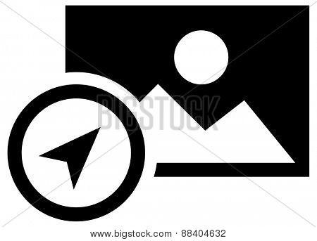 Photo coordinates icon