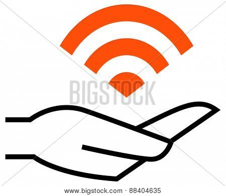 WiFi on hand icon