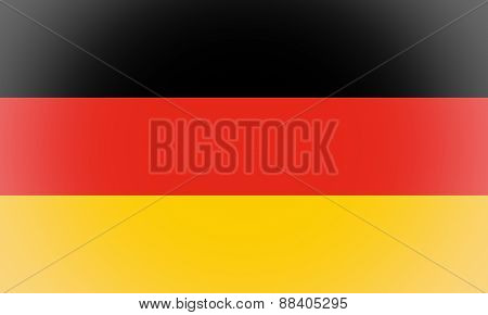 Flag Of Germany Vignetted