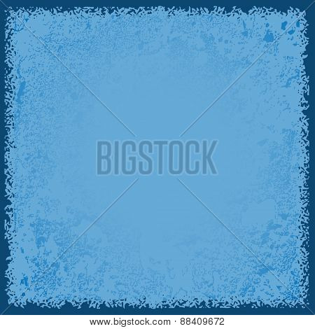 Abstract blue paper background, grunge texture. Vector illustration.