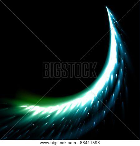 Sparkling stars dust trail (light effect)