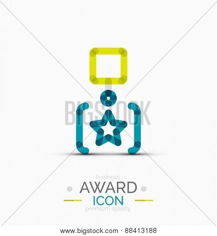 Award icon, logo. Modern business symbol, minimal outline design