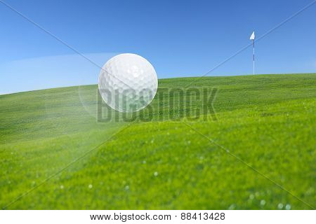 Flying Golf Ball