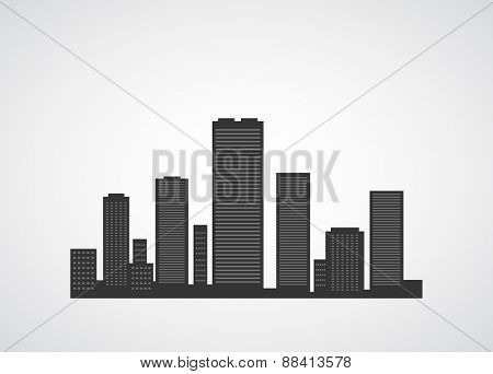 city icon scape abstract background