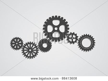 gear cog wheel industrial abstract background - techno design