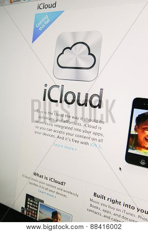 Apple Website Presenting The New Icloud Service