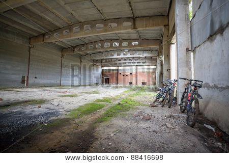 Large industrial hangar