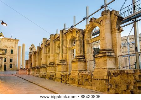 Ruins Of The Royal Opera House In Valletta - Malta