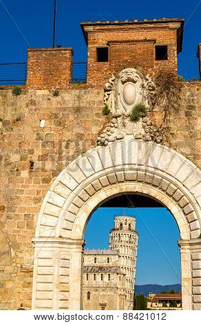 Entrance To Piazza Dei Miracoli In Pisa - Italy
