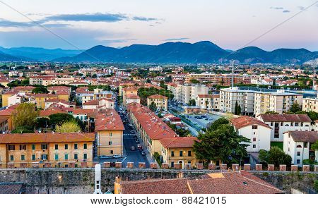 View Of Pisa From The Tower - Italy
