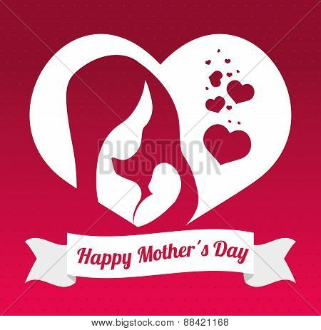 Happy mothers day card design.