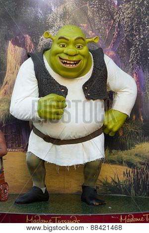 Shrek wax figure