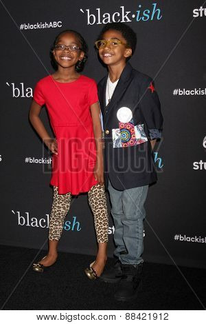 LOS ANGELES - FEB 17:  Marsai Martin, Miles Brown at the
