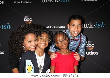 LOS ANGELES - FEB 17: Yara Shahidi, Miles Brown, Marcus Scribner, Marsai Martin at the