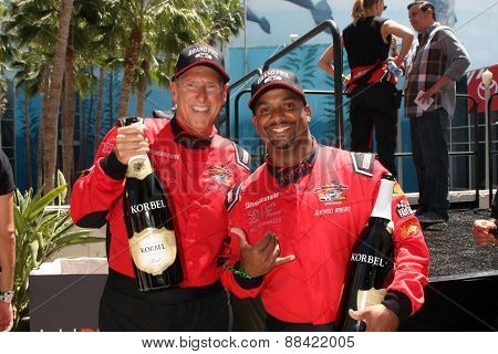 LOS ANGELES - FEB 18:  Dave Pasant, Alfonso Ribeiro at the Toyota Grand Prix Pro/Celeb Race at the Toyota Grand Prix Racecourse on April 18, 2015 in Long Beach, CA
