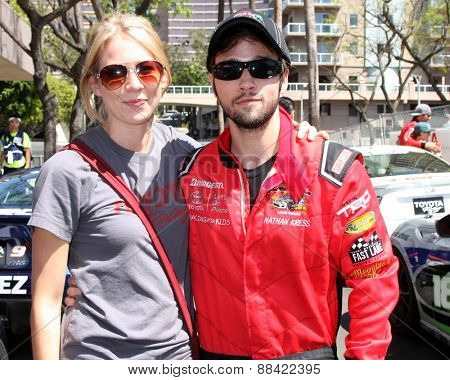 LOS ANGELES - FEB 18:  Nathan Kress at the Toyota Grand Prix Pro/Celeb Race at the Toyota Grand Prix Racecourse on April 18, 2015 in Long Beach, CA