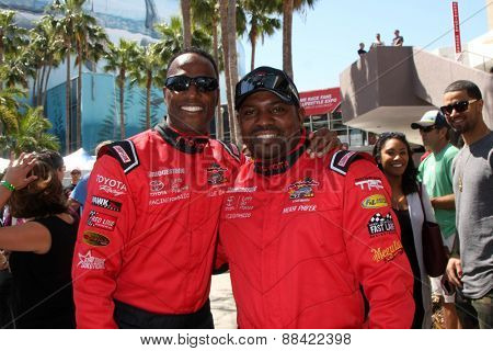 LOS ANGELES - FEB 18:  Willie Gault, Mekhi Phifer at the Toyota Grand Prix Pro/Celeb Race at the Toyota Grand Prix Racecourse on April 18, 2015 in Long Beach, CA