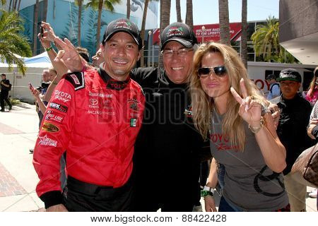 LOS ANGELES - FEB 18:  Raul Mendez and father, Kate del Castillo at the Toyota Grand Prix Pro/Celeb Race at the Toyota Grand Prix Racecourse on April 18, 2015 in Long Beach, CA