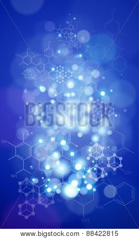 chemical forms - blue technology backgrounds / vector illustration / eps10