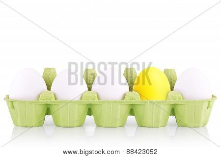 Symbol Concept white egg isolated in box