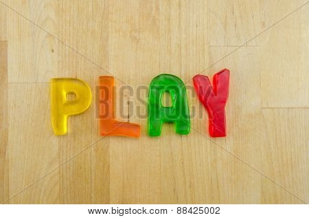 Gummy Words Play