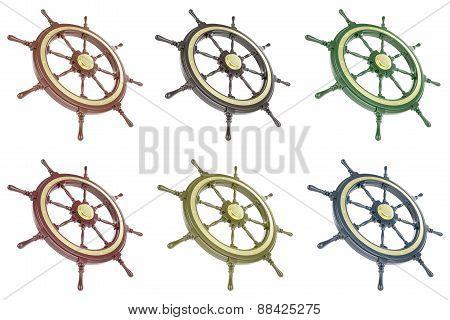 Set ship wheel