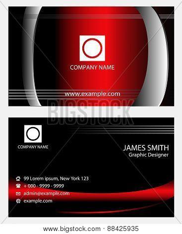 Morden business card vector template