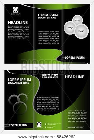 Brochure design template vector folder leaflet