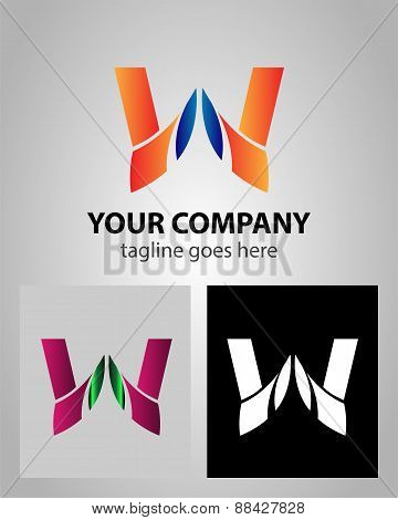 Letter W logo icon design template elements abstract symbol
