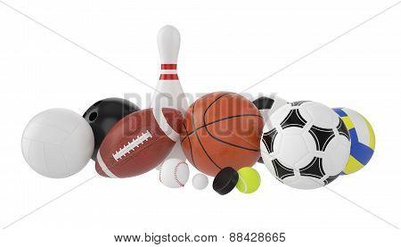 Set of sports balls.
