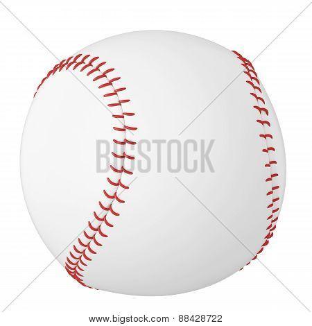 Baseball ball isolated on white background.