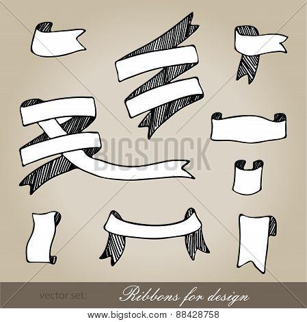Set Of Ribbons For Design